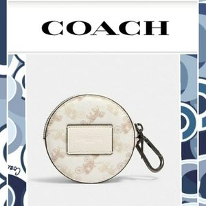 NWT Coach Hybrid Pouch in Horse & Carriage